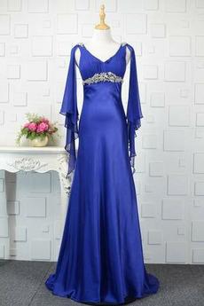 Naturalne talii Luźne rękawy Długi rękaw Sukienka wieczorowe