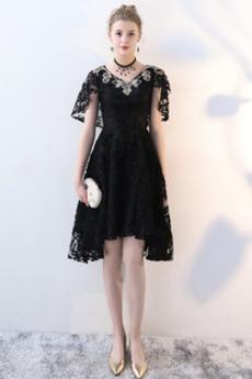 Naturalne talii Glamour Koronki Asymetryczny Sukienka wieczorowe
