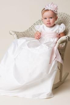 Formalny Krótki rękaw Długi Ceremonia Akcentowane łuk Spódnica do chrztu