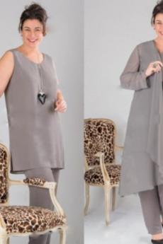 Lato Bankiet Wysokie pokryte Naturalne talii Sukienka matka garnitury