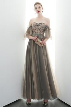 Naturalne talii Frezowanie Średni Tiul Prosty Sukienka wieczorowe