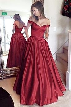 Bezszelestnie Linia A Bez rękawów Naturalny talia Sukienka na studniówkę