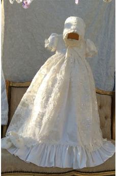 Krótki rękaw Wysokie pokryte Długi Wakacje Sukienka do chrztu
