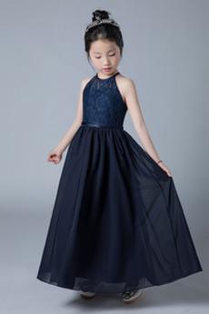 Koronka Linia A Gruszka Bez rękawów Przyjęcie Dzieci sukienka