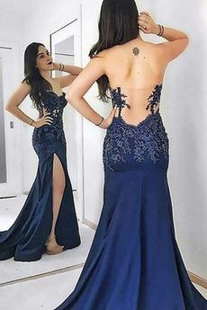 Seksowny Cienkie Bez pleców Naturalne talii Sukienka wieczorowe