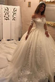 Koronka Koronki Dew ramię Gruszka Aula Elegancki Sukienka ślubne