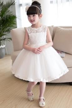Aplikacje Akcentowane łuk Wiosna Panienki Klejnot Dzieci sukienka