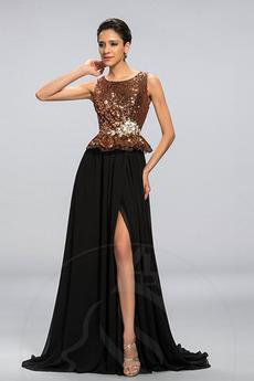Frezowanie Linia A Cekinowe gorset Naturalny talia Sukienka wieczorowe