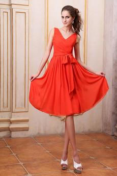 Czerwony Ogród Długość do kolan Harmonijkowe gorset Sukienka na studniówkę