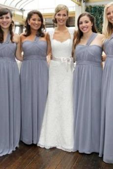 Prosty Naturalne talii Chybienia Plisowane Sukienka dla Druhen