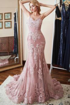 Elegancki Koronki nakładki Bez rękawów Tiul Sukienka wieczorowe