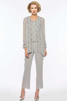 Średni Nanoszone Z spodnie Szyfon Naturalne talii Sukienka matki