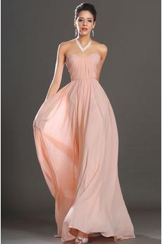Bez ramiączek Naturalne talii Bez rękawów Sukienka wieczorowe