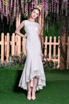 Na suwak Ogród Naturalne talii Dekolt łódka Sukienka ślubne