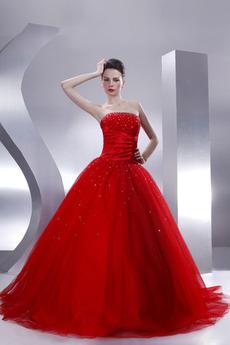 Romantyczny Księżniczka Cekiny Zima Satyna Sukienka na studniówkę