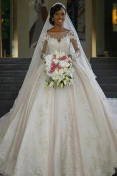 Długi rękaw Formalny Kościelna Długi Nasuwki złudzenia Spódnica ślubne