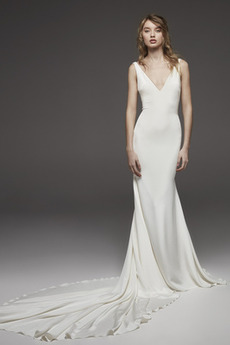 Płaszcz Środek tyłu Lato Nanoszone Seksowny Sukienka ślubne