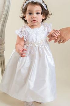 Długość kostki Satyna Księżniczka Wakacje Sukienka do chrztu