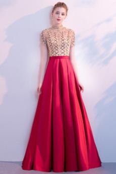 Linia A Satyna Luksusowy Spadek Naturalny talia Sukienka na studniówkę