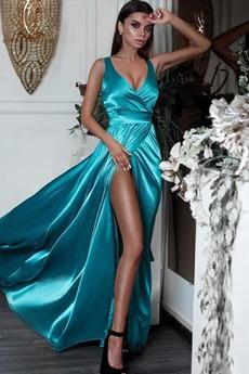 Satyna elastyczna Nanoszone Naturalny talia Sukienka wieczorowe