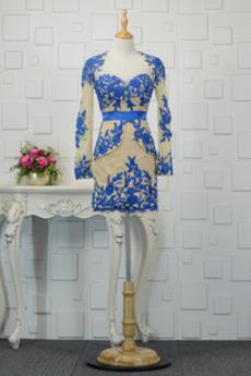 Krótki Nasuwki złudzenia Elegancki Płaszcz Sukienka wieczorowe