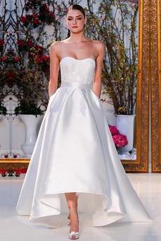 Bez pleców Trójkąt plecionka Koronki Bez rękawów Sukienka ślubne
