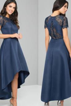 Asymetryczny Naturalne talii Ślub Koronki Sukienka wieczorowe