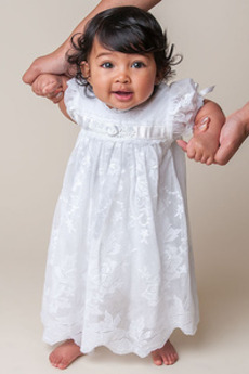 Tiul Krótki rękaw Latarnia Księżniczka Imperium talia Sukienka do chrztu