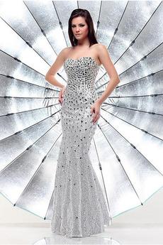 Bez rękawów Gwiaździsta Cekiny Naturalne talii Sukienka Cekiny