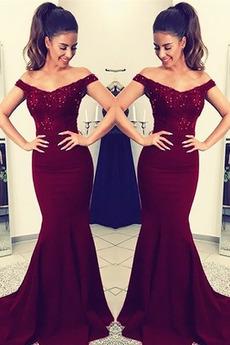 Długi Nanoszone Ograniczona rękawy Naturalne talii Sukienka wieczorowe
