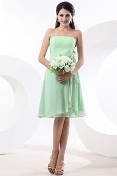 Bez ramiączek Ogród Bladożółtym turkusowy Sukienka dla Druhen