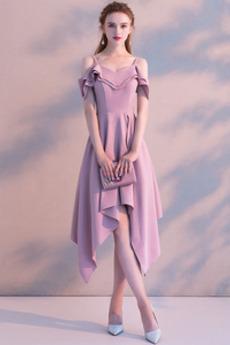Elegancki Asymetryczny Asymetryczny Średni Sukienka koktajlowe