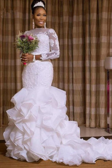 Sama z powrotem Aplikacje Sąd Pociąg Naturalne talii Sukienka ślubne
