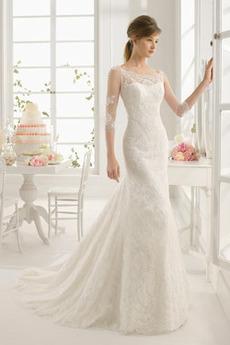 Płaszcz Nasuwki złudzenia Średni Koronka Długi Sukienka ślubne