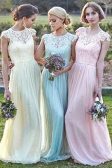 Bez rękawów Zamek w górę Linia A Naturalne talii Sukienka dla Druhen