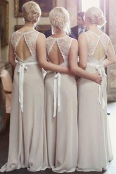 Upadek Akcentowane łuk Długi Naturalne talii Spódnica dla Druhen