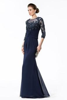 Formalny Nasuwki złudzenia 3/4 tuleje dystansowe Sukienka wieczorowe