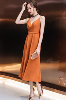 Przyjęcie Naturalne talii Elegancki Długość herbaty Sukienka koktajlowe