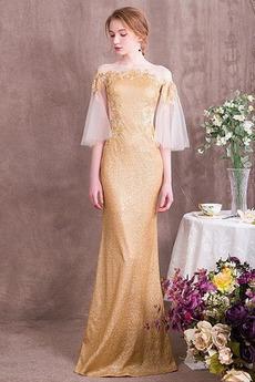 Długość do podłogi Cekinowe gorset Chybienia Sukienka wieczorowe