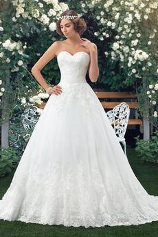 Bez pleców Przycisk Długi Naturalne talii Gruszka Sukienka ślubne