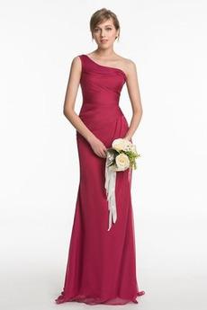 Długi Naturalne talii Zamek w górę Elegancki Sukienka dla Druhen