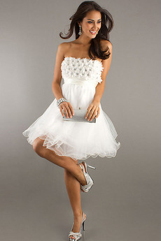 Krótki Mały Środek tyłu Frezowanie Romantyczny Sukienka na studniówkę