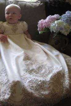 Krótki rękaw Formalny Koronki Księżniczka Spódnica do chrztu