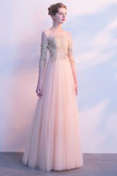 Latem Naturalne talii Frezowanie Na suwak Sukienka wieczorowe