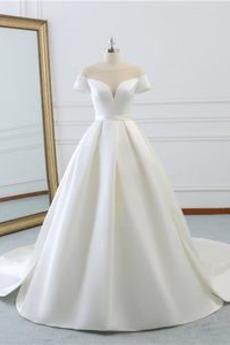 Przeciągnięcia pociągu Sznurowane Kościelna Spódnica ślubne