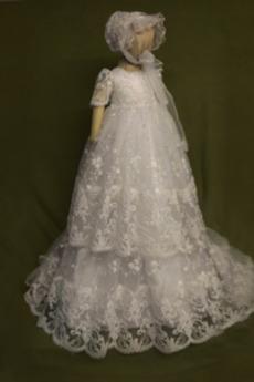 Rękaw do łokcia Księżniczka Panienki Czapka Sukienka do chrztu