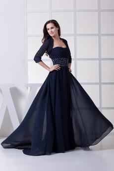 Średni Szyfon Bez pleców Linia A Naturalne talii Sukienka matki