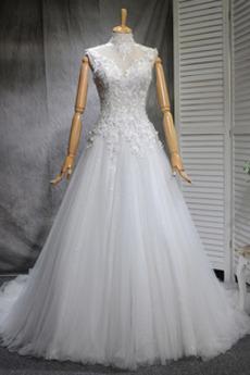 6975aac9 Kupuj tanie Wysoki szyi Suknie ślubne z sklepu internetowego ...
