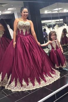 Bez pleców Bez rękawów Naturalne talii Sukienka na studniówkę