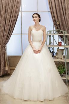 Bez pleców Akcentowane łuk Naturalne talii Długi Spódnica ślubne